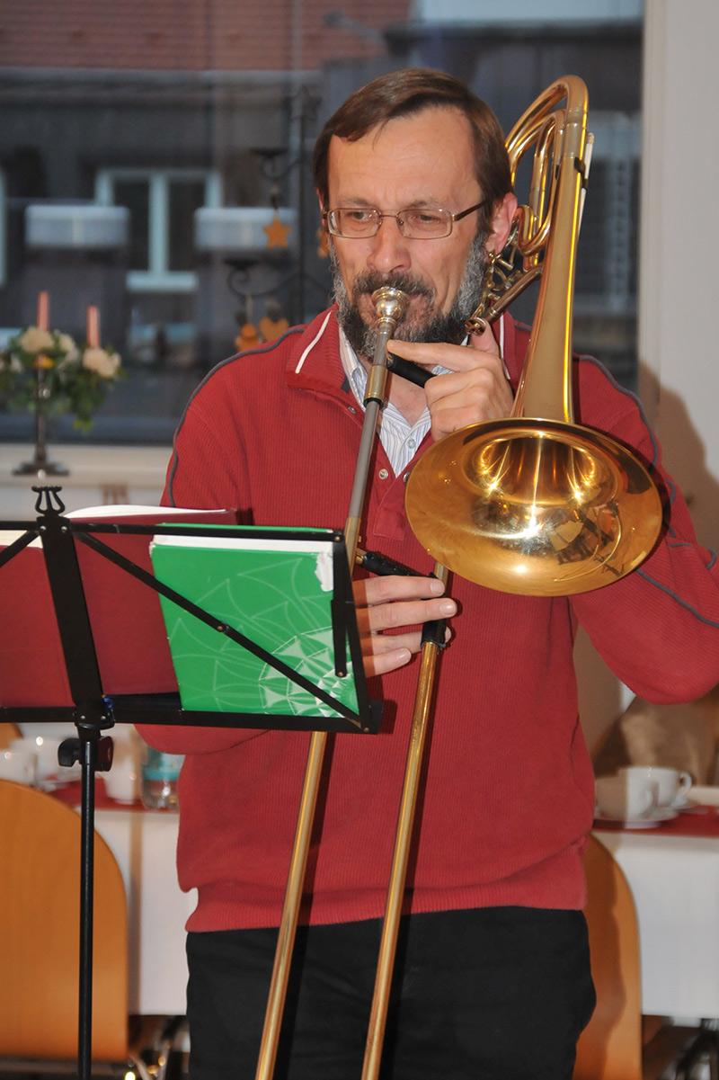 Leiter des Posaunenchores Christoph Käßler
